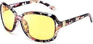 عینک شبانه زنانه کلاسیک FEISEDY که ضد لعاب را در اطراف عینک آفتابی زرد B2548 رانندگی می کند