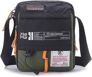 JAKAGO Waterproof Messenger Bag Shoulder Bag 10.1 Tablet Bag for Travel (Black)