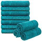 Brandsseller Juego de 10 toallas de invitados, aprox. 50 x 30 cm, 100% algodón,...