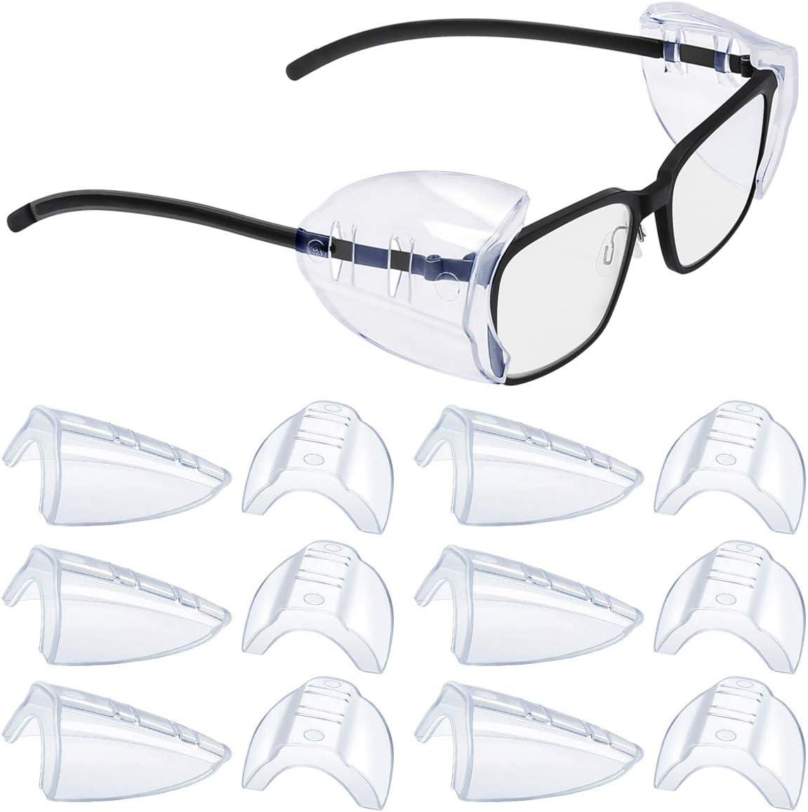Gafas de protección lateral, gafas de protección con protección lateral para protección ocular, aptas para gafas pequeñas y medianas (6)