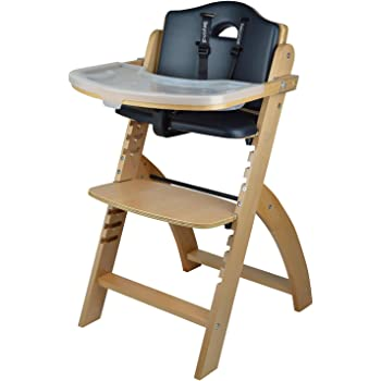 Abiie Beyond Wooden High Chair with Tray