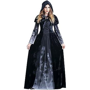 PROTAURI Adulto Disfraz de Halloween Dama Traje de Bruja Mujeres ...