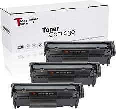 TonerSave 12A Q2612A Toner Cartridge HP 12A for HP Laserjet 1018 1020 1012 3050 3030 1022 1015 3015 3055 1010 3020 3050Z 3052 M1005MFP M1319MFP 3 Pack