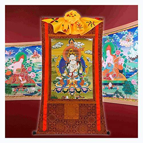 Thangka Grote Witte Paraplu Cover Boeddha Moeder Lengte 63cm Tibetaans Handgemaakte Boeddha Hal Theesalon Tantra Enshrine Boeddha Decoratie Schilderij