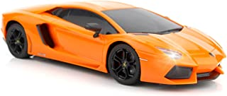 Best QUN FENG RC Car 1:18 Lamborghini Aventador Radio Remote Control Cars Electric Car Sport Racing Hobby Toy Car Grade Licensed Model Vehicle for Kids Boys and Girls Best Gift (Orange) Review