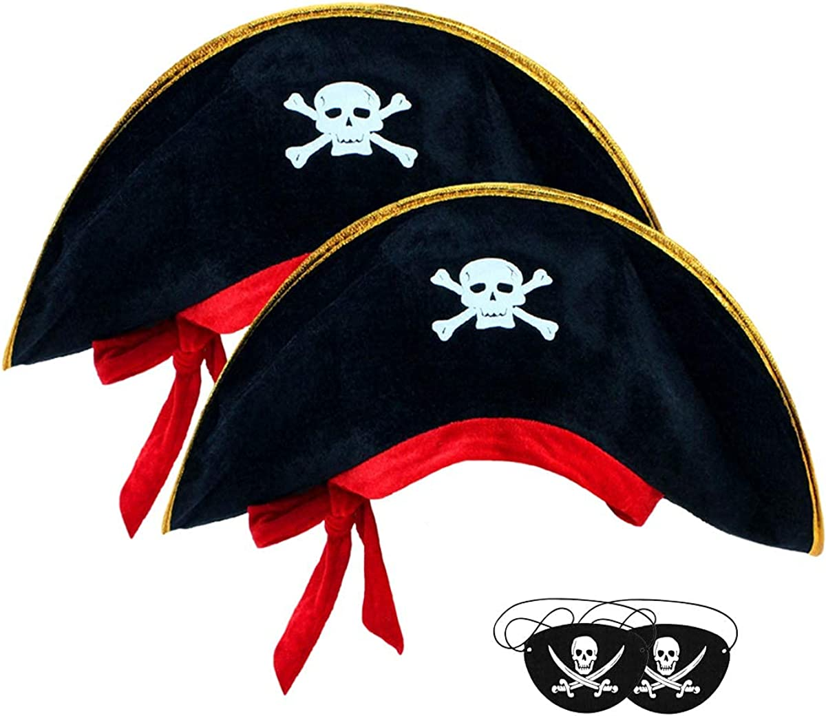 Attention brand 2pcs Halloween Pirate Hat With P Eye Classic Skull Patch- Max 89% OFF