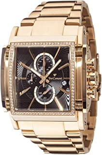 Yves Camani Men's Stainless Steel Chronograph Watch with Date Display