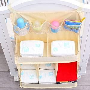 Jenny Ben Crib hanging bag nursery storage bag bedside toy diaper pendant storage bag