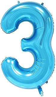 Best number 3 balloon blue Reviews