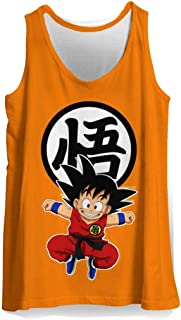 Mens Cool Anime Graphic 3D Print Tank Top Dragon Ball Goku Work Out Shirt Sleeveless Muscle Tees