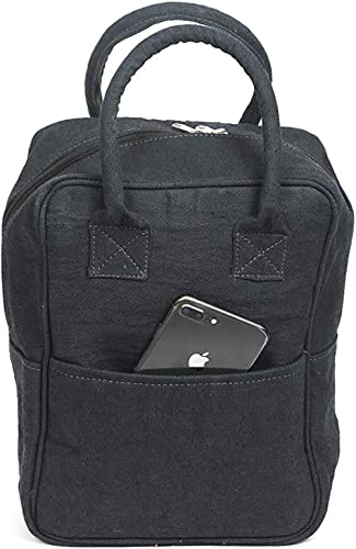 Anshika International Premium Fancy Multipurpose Denim Lunch Tiffin Bag with Front Pocket for Travel, School, Office ...