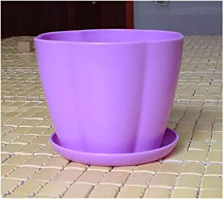 QIANZICAI Flower Pot, 5 Extra Large Plastic Plant Nursery Pot, Flower Plant Container, Green 1917cm Lightweight And Rugged Cold (Color : Purple, Size : 1917cm)