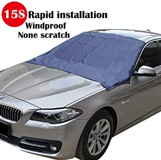 "Sunny color TMA-1 Magnetic Edges Windshield Snow Cover No More Scraping Car Fits Most Car, SUV, Truck, Van with 70""x 54"""