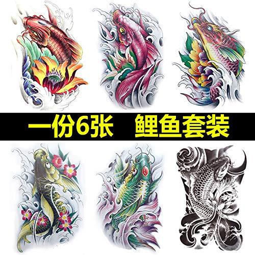 Half-arm tattoo stickers waterdichte mannelijke en vrouwelijke trouw blijvend borst borst Langtou adelaar eenhoorn tattoo arm dragon karper