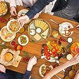 Relaxdays Servierplatte Bambus rund D ca. 33 cm Bambusteller zum Anrichten als Servierteller und Serviertablett für Wurst Käse Obst Gebäck Snacks uvm. nutzbar Snacktablett auch als Dekoteller, natur - 2