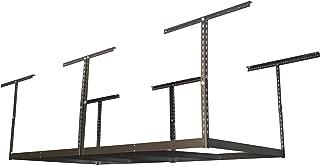 MonsterRax 4x8 Garage Storage Rack – Height Adjustable Steel Overhead Storage Rack Frame Kit with Adjustable Height – 600 Pound Weight Capacity (Hammertone, 18