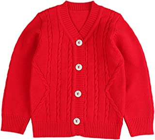 Zsedrut Classic Baby Knit Sweater Infant Boys Girls Cardigan Autumn Winter Cotton Toddler Sweaters 6-18 M