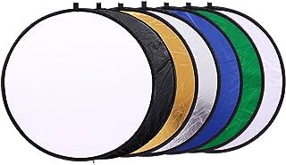 30,5cm/30cm 7in 1Rund tragbar klappbar Licht Runde Fotografie Reflektoren für Studio Multi Photo Disc weiß, blau, grün, schwarz, gold und silber,