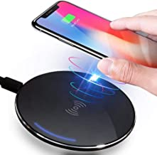 Wireless Charger,Qi Certified Ultra-Slim 5W Wireless Charger Pad Compatible with iPhone Xs Max/XS/XR/X/8/8 Plus, Galaxy S9/S9+/S8/S8+/Note 8/7/s7/s7 Edge and All Qi-Enable Devices (No AC Adapte