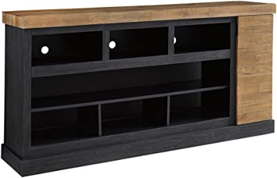 f1e43a8bd7635e Signature Design by Ashley W715-68 Tonnari Extra Large Tv Stand with  Fireplace Option Two