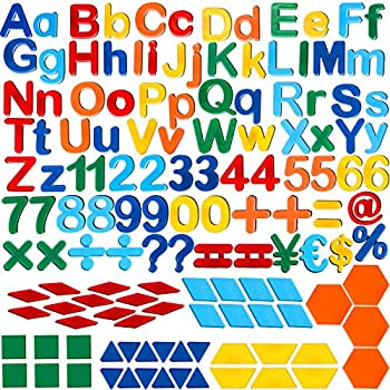 137 Pieces Magnetic Letters Numbers Alphabet Fridge Magnets and Shapes for Toddlers Phonics Letter Refrigerator Magnets for Ages Over 3 Early Educating Learning