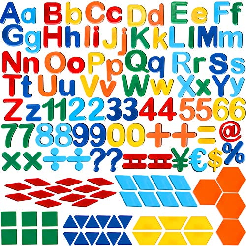 137 Pieces Magnetic Letters Numbers Alphabet Fridge Magnets and Shapes for Toddlers Phonics Letter...