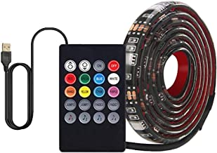 MIS1950s USB Music Induction TV Background LED Intelligent Control Flexible RGB Strip Lights Music for Party Decor,Displays, Showcases,Porch, Staircase, Railing, Ceiling