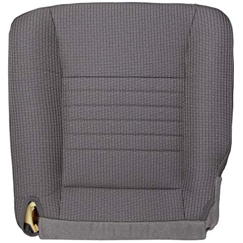The Seat Shop Driver Bottom Replacement Cloth Seat Cover - Medium Slate Gray (Compatible with 2006-2008 Dodge Ram Work Truck ST 1500, and 2006-2009 ST 2500 and 3500)