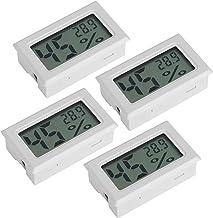Parluna Termómetro para Reptiles Mini probador de Temperatura de Humedad Medidor de Temperatura de Humedad, termómetro Digital higrómetro, para Coche, Oficina, escuelas, hogar(TS-804-W)