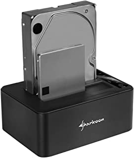 Sharkoon QuickPort Duo Clone 3.1 - Base de Conexión para Disco Duro, Negro