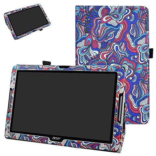 """Mama Mouth Acer Iconia One 10 B3-A30 Custodia, Slim Sottile di Peso Leggero con Supporto in Piedi Caso Case per 10.1"""" Acer Iconia One 10 B3-A30 Android Tablet,Mushroom Fantasy"""