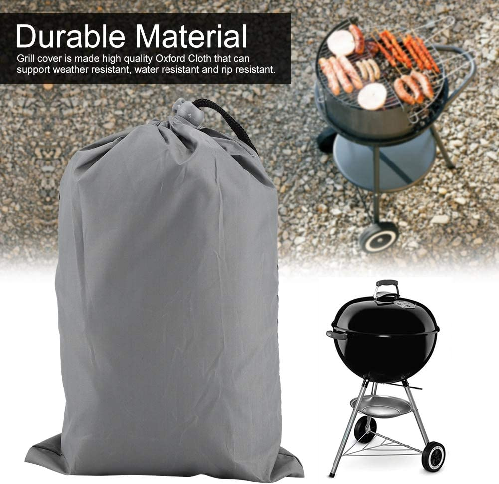 02 FTVOGUE Waterproof Kettle Style BBQ Grill Cover Outdoor Rainproof Durable Anti Dust Protector 30 x 30 x 36 inch