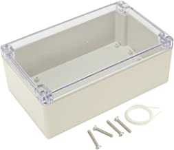 Awclub ABS Plastic Junction Box, Dustproof Waterproof IP65 Electrical Box - Universal Project Enclosure Grey, with PC Tran...