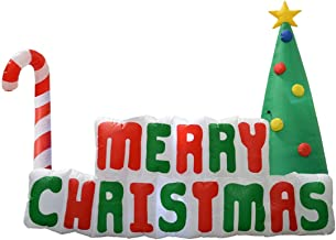 Impact Canopy Inflatable Outdoor Christmas Decoration, Lighted Merry Christmas Sign with Tree, 6 Feet Long