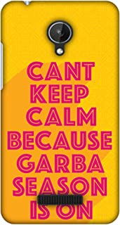 Micromax Canvas Spark Q380 Case, Premium Handcrafted Designer Hard Shell Snap On Case Shockproof Printed Back Cover for Micromax Canvas Spark Q380 - Garba Can't Keep Calm