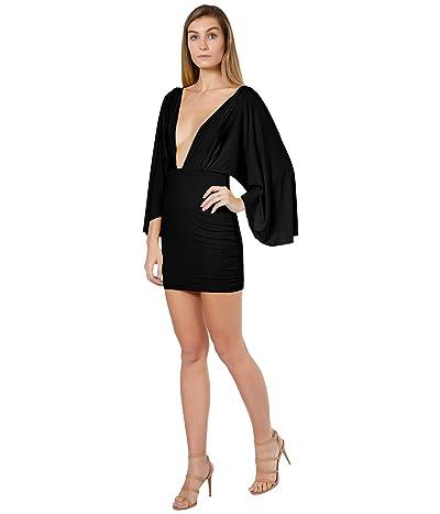 Bebe Plunge Wing Mini Dress