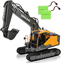 17 Channel Volvo RC Excavator Truck with 2 Rechargeable Batteries Full Functional Remote Control Excavator Construction Tractor
