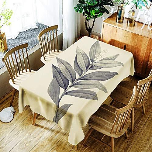 XXDD Mantel de patrón de Planta Creativo Simple Flor Impermeable Mantel para el hogar decoración del hogar A8 150x210cm