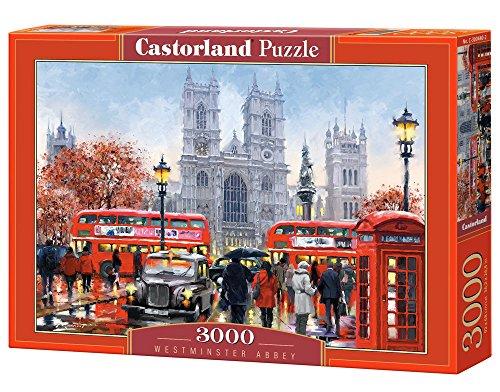 Castorland Westminster Abbey 3000 pcs Puzzle - Rompecabezas (Puzzle rompecabezas, Ciudad, Niños y adultos, Niño/niña, 9 año(s), Interior) , color/modelo surtido