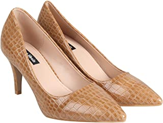 Flat n Heels Womens Tan Pumps FnH 2056-1P-TAN