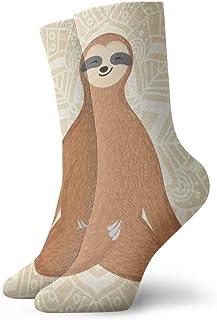 BEDKKJY, Calcetines de Cuello Redondo Sloth Divertido (2) Fabuloso calcetín de Calcetines de Fiesta de Arranque Corto para Mujer para niños