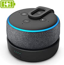GGMM Original Portable Charging Battery Base for Amazon Echo Dot 3rd Gen Mini Wireless Bluetooth Speaker for Alexa with 8 ...