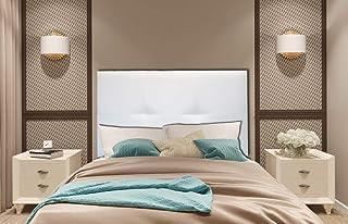 Cabecero Cama tapizado en Polipiel Mod. NACAR (Blanco, 120x62)