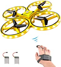 $30 Get ForBEST Gesture Control Drone Rc Quadcopter Aircraft with Smart Watch Controlled, 2 Batteries, 360° Flips, Led Light, 3 Modes, USB Cable, Best Gift for Kid