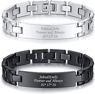 Personlized Customize 12MM Elegant Stainless Steel Adjustable Link Bracelet,Free Link Removal Kit