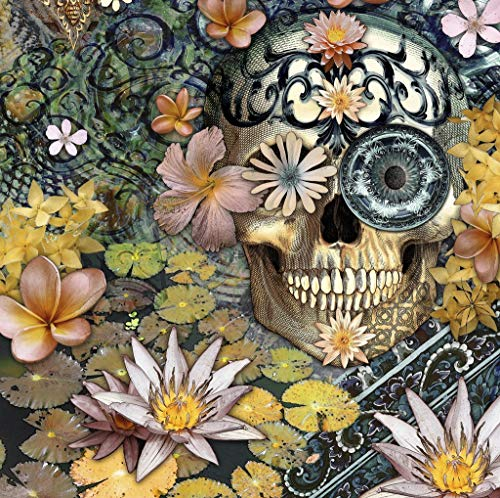 Mini Wooden Jigsaw Puzzle for Adults - Day of The Dead - 50 Pieces by Nautilus Puzzles. Made in USA.