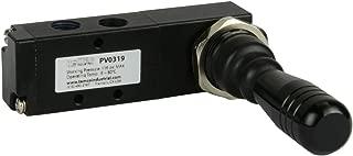 Spring Return Lever Pneumatic Air Control Valve 5 Port 4 Way 3 Position 1/8