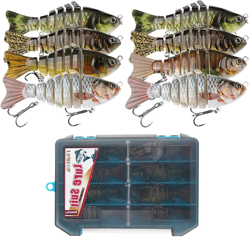 40% OFF Cheap Sale FlyGong Fishing Lures for Bass 8 Plastic Hard Join Multi Minneapolis Mall Pieces