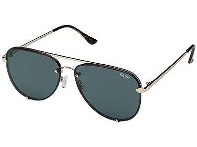 QUAY AUSTRALIA Highkey Mini Rimless (Gold/Teal) Fashion Sunglasses