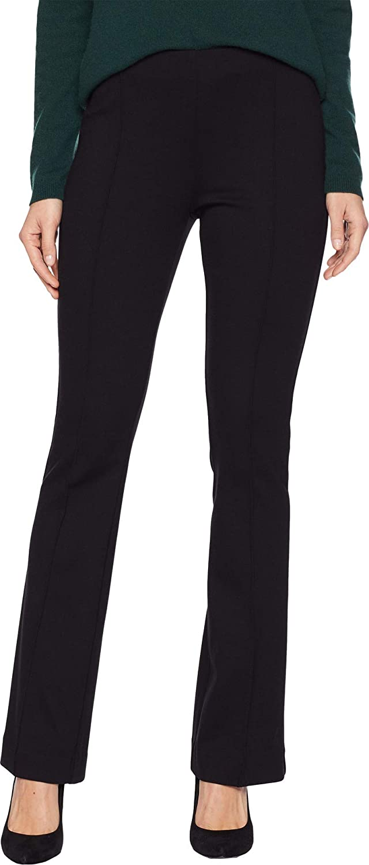 Elliott Lauren Womens Ponte Hidden Elastic Bootcut PullOn Pants Seam Detail